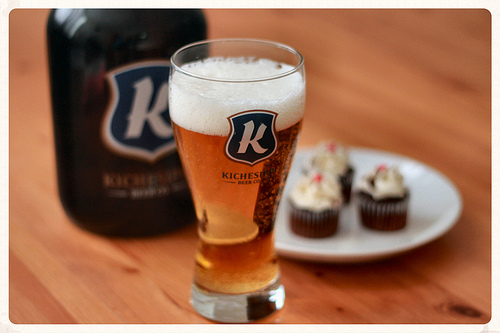 Heller High Water by Kichesippi Beer Co. ...and black forest Little Cakes!